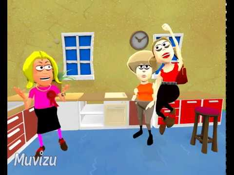 Cooker Fitting Services - Fun Animation 3 People in Kitchen Loving Our Installation Services