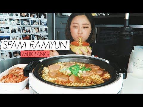 'spam-&jin-ramyun'-mukbang-(spicy)
