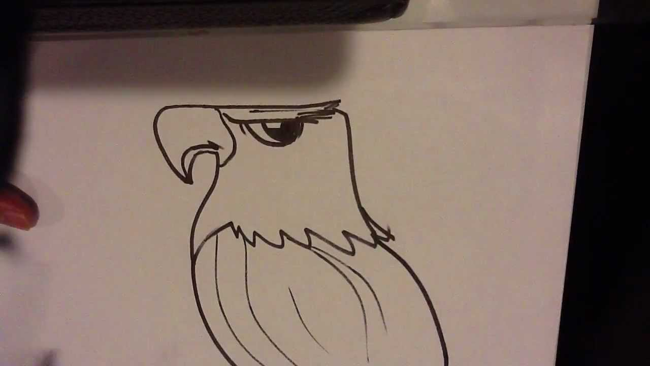 How to draw an eagle head easy things to draw youtube for Fun things to draw