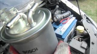 Wymiana filtra paliwa Ford Galaxy MK2