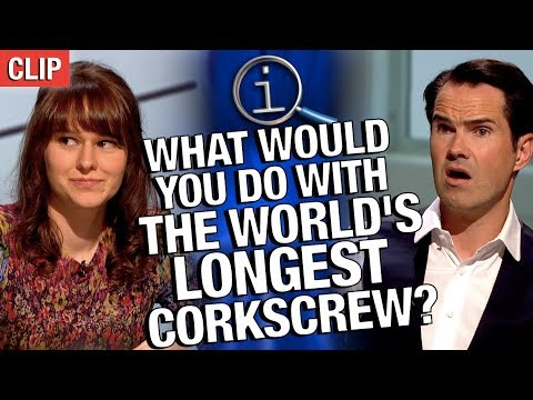 QI  What Would You Do With The World's Longest Corkscrew?