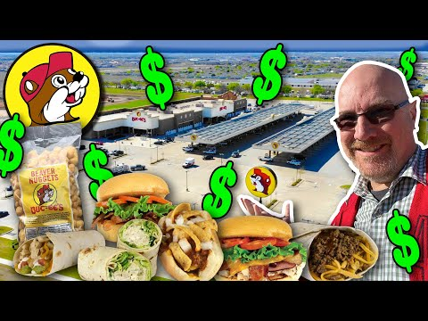 Eating at the Largest Gas Station in the World ALL DAY LONG!!! 🌯🍔🌮 BUC-EE'S