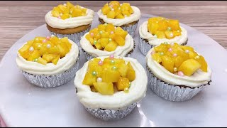 Mango Cupcakes - Moist Mango Cupcake