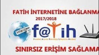 2018 Fatih internetine bağlanma %100 çözüm.