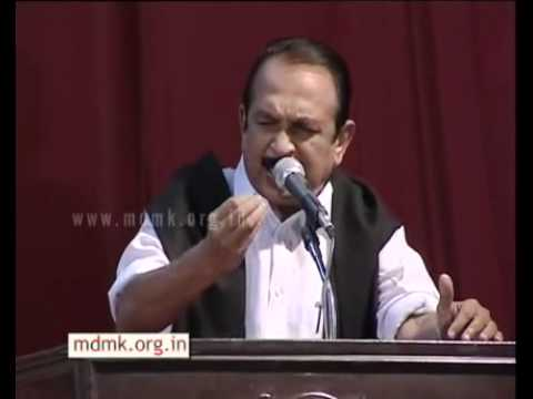 Vaiko speech on World Indigenous day in Loyola college