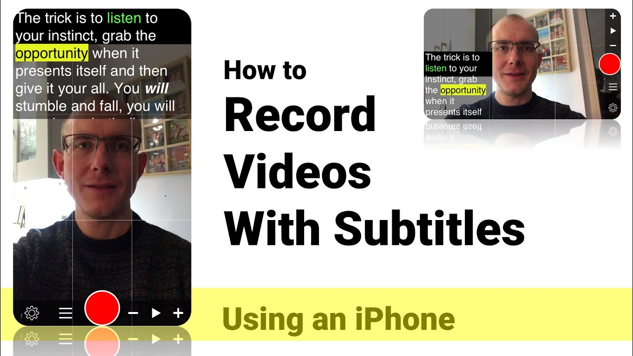 How to Record Videos with Subtitles on iPhone