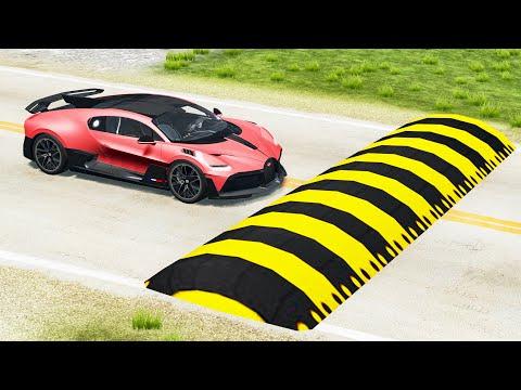 Cars vs Giant Speed Bump - Beamng drive  