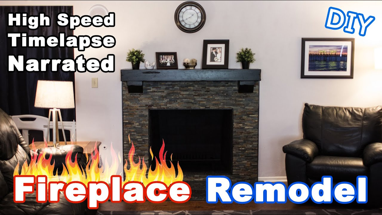 fireplace remodel timelapse narrated youtube