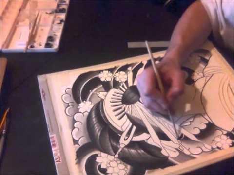 Speed oriental drawing Rafa Streetstyle tattoo