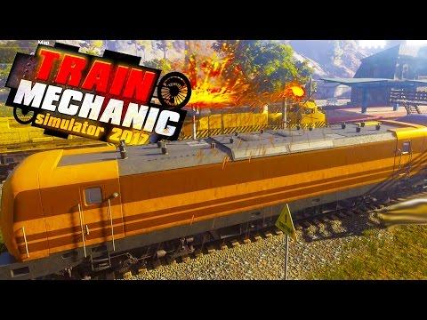 ELECTRIC TRAIN SHORT CIRCUITS! Heavy Repairs Needed! - Train Mechanic Simulator 2017 Gameplay Ep 6