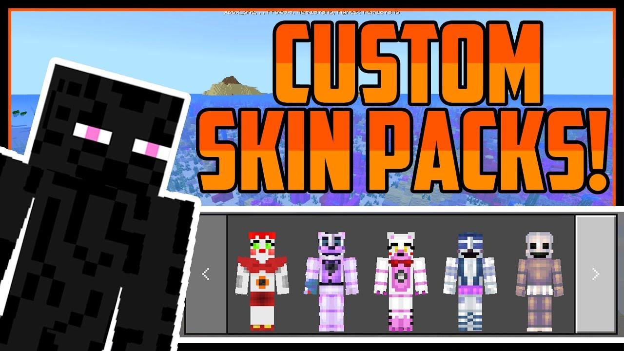 How To Get Custom Skin Packs Minecraft Bedrock