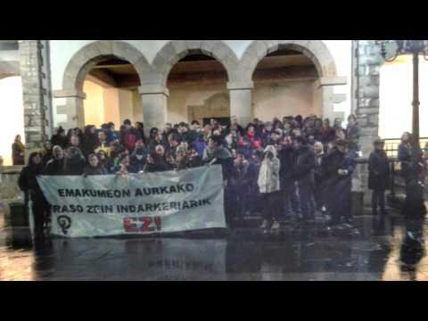 Concentración 8 de marzo de 2016 en Plentzia