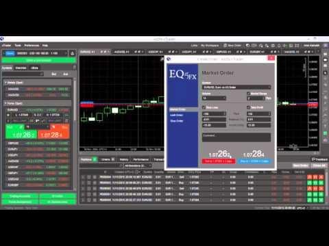 شرح منصة cTrader لشركة Eq5Fx الفيديو الأول: تحميل المنصة, اعدادات التداول السريع, وحدة قياس الحجم