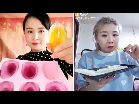 [ASMR NO TALKING] Ice Eating ASMR - (Eat the whole word) / Ice Chewing #108