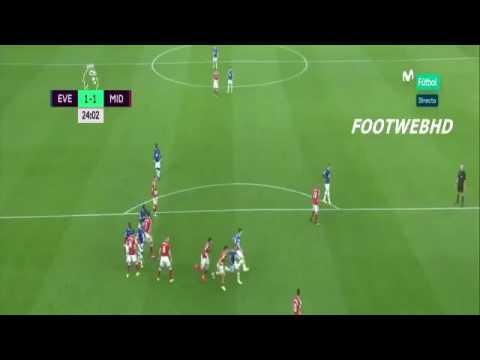 Gareth Barry Goal Everton 3-1 Middlesbrough 17/09/2016 - 600th Premier League Appearance