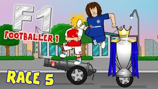 🏁FOOTBALLER 1🏁#5 Premier League Wacky Races (David Luiz Red! Watford 0-6 Man City)