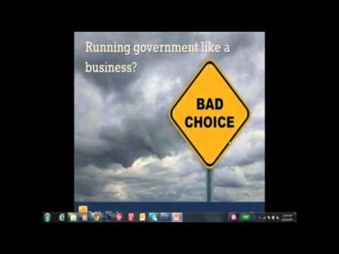 "Webinar: ""Run Government Like Business"" - Dealing with this Toxic Idea"