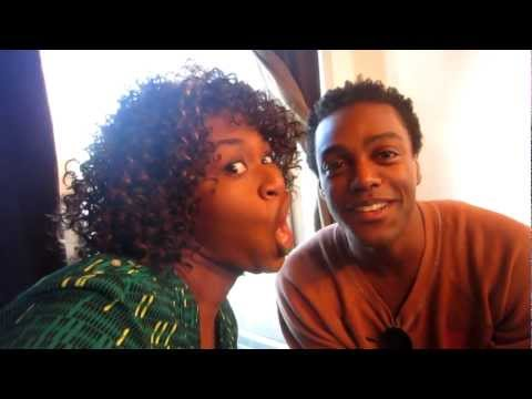 Austin Brown Backstage on What's Trending  ...  GloZell