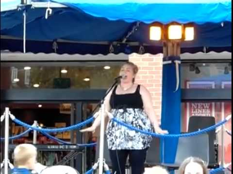 Jeanie singing at Market Harborough by the Sea