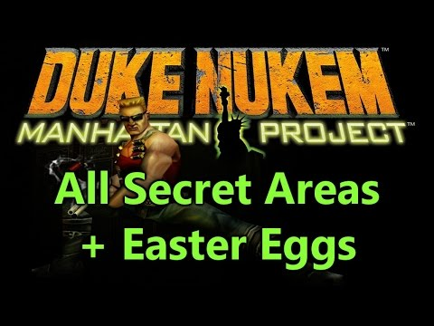Duke Nukem Manhattan Project All Secrets, Easter Eggs & Secret Boss WOZMA
