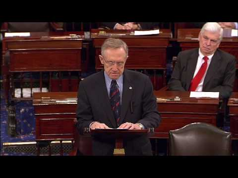 Majority Leader Reid Speaks Before Historic Health Care Vote