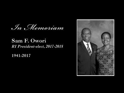 Sam F. Owori - In Memoriam