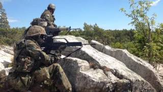 BALTOPS 2016: German/Finnish Marines Conduct Ground Assault on Uto, Sweden (B-Roll)