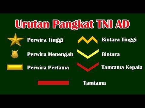 Download Urutan Pangkat Tentara Nasional Indonesia Angkatan Darat TNI AD