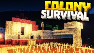 MOUNTAIN CASTLE - Colony Survival PC Gameplay Part 2 - New Minecraft Clone Conoly Survival Update
