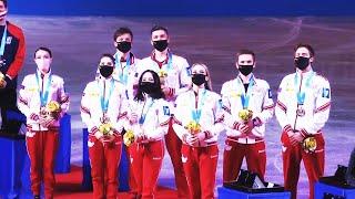 Российские фигуристы одержали триумфальную победу и стали чемпионами мира 2021 в командном зачете