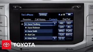 Using the Phone Book   2014 4Runner   Toyota