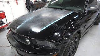 Polishing a Severely oxidized Mustang Hood