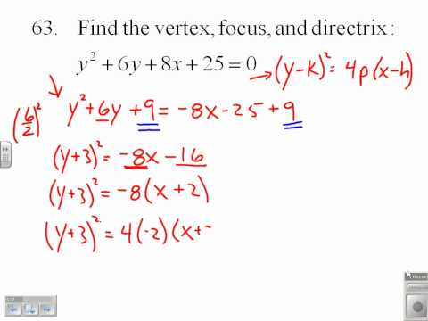 analytic geometry parabola problems with solutions pdf