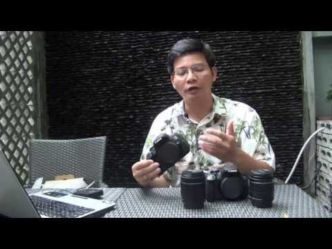 Trên tay máy ảnh Canon EOS 700D