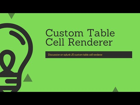 Splunk Web Framework : Implementation Of Cutom Table Cell Renderer Using TableView