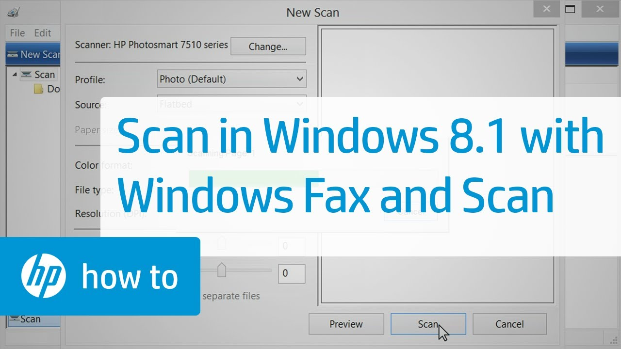 How to Scan in Windows 8 1 with Windows Fax and Scan | HP