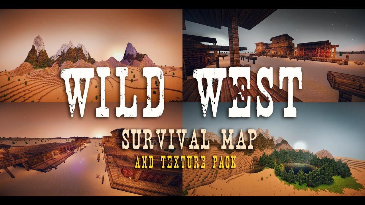 WILD WEST Map Texture Pack Download YouTube - Minecraft desperado hauser