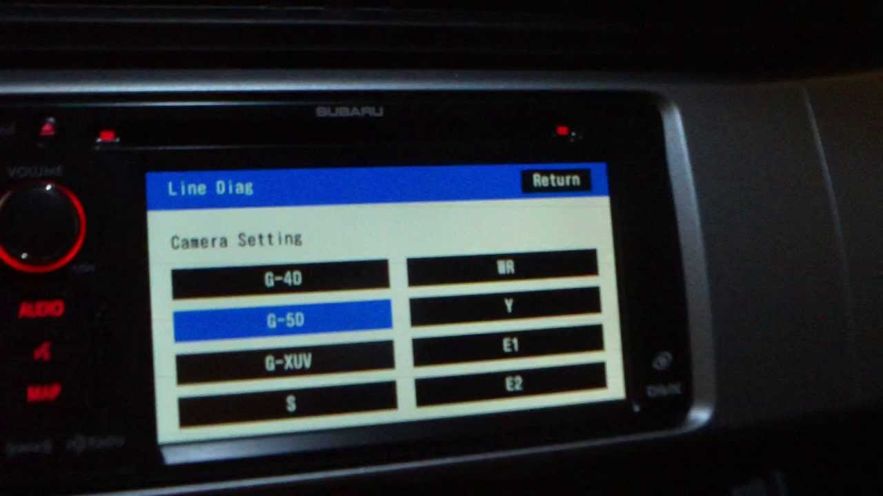 Subaru BRZ head unit diagnostic and other hidden menu