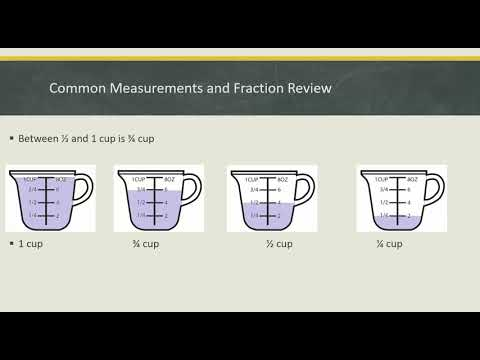 Measuring Cups Fraction Review