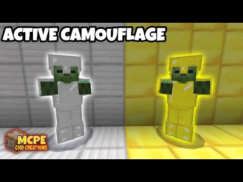 MCPE | Active Camouflage using Commands (Tutorial)