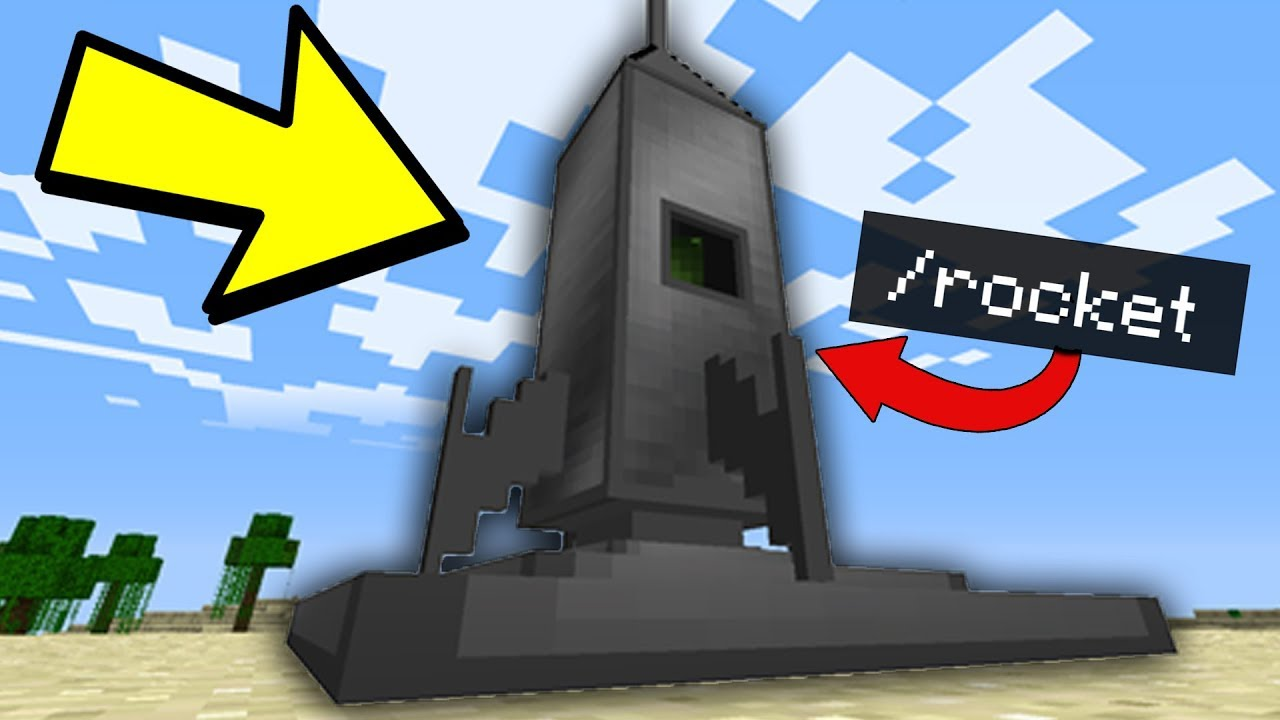minecraft how to build a working rocket