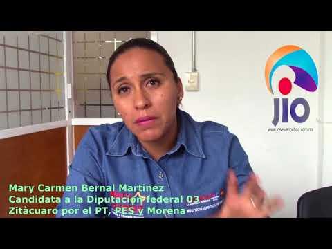 Entrevista Mary Carmen Bernal Martinez Candidata a la diputacion federal