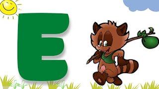 Азбука для малышей. Буква Е. Учим буквы вместе. Развивающие мультики для детей