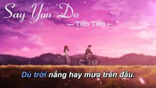 Say You Do - Tiên Tiên [Karaoke Beat gốc]