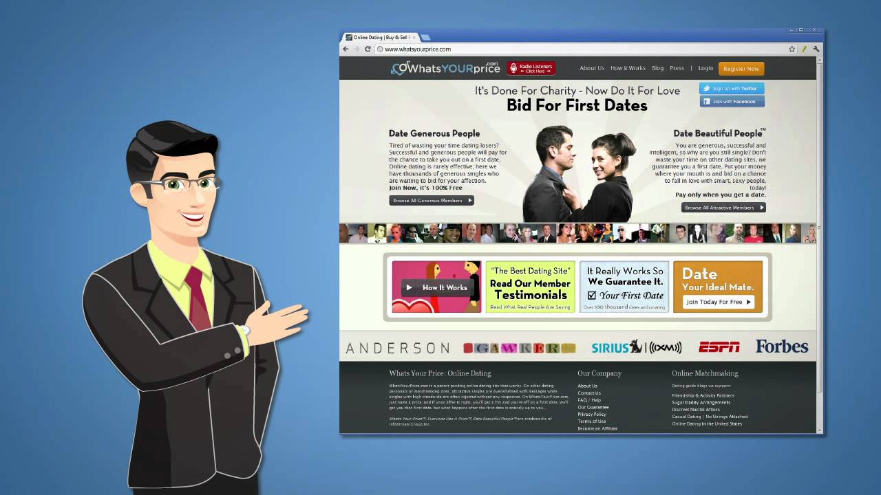 Dating Site Bid For First Date