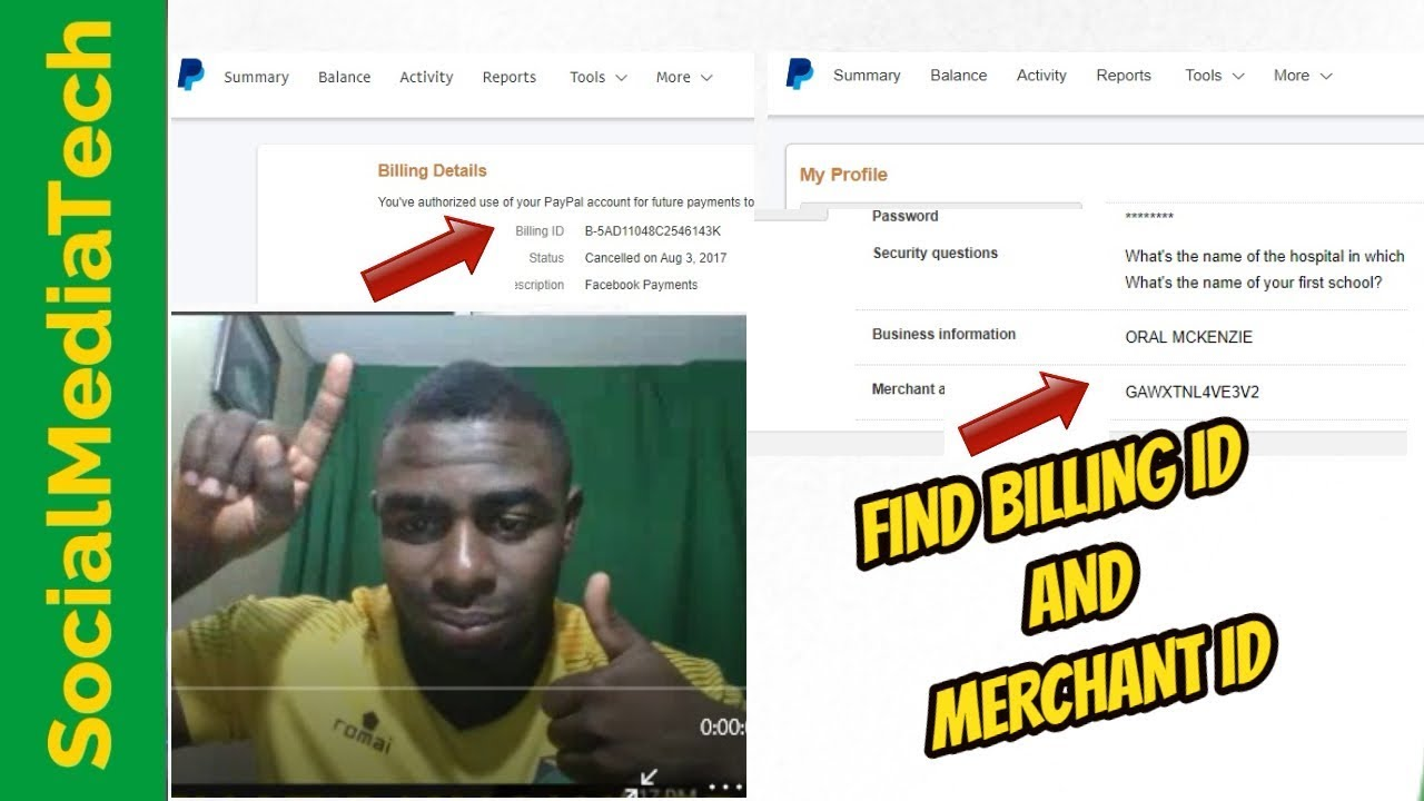 How To Find Paypal Billing Id Youtube
