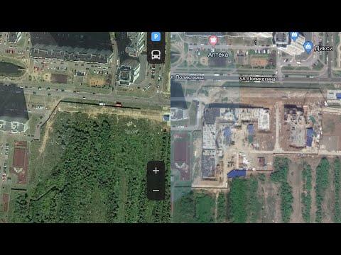 GOOGLE MAPS Vs ЯНДЕКС КАРТЫ режим спутник
