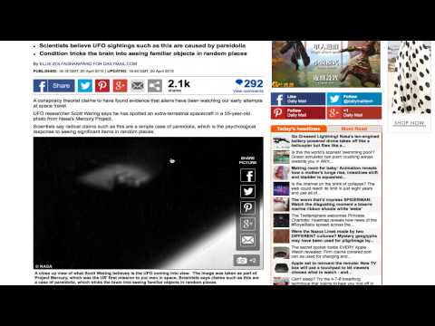 UFO Sightings Daily Gets Into News AT UK Daily Mail Newspaper. April 20, 2015.