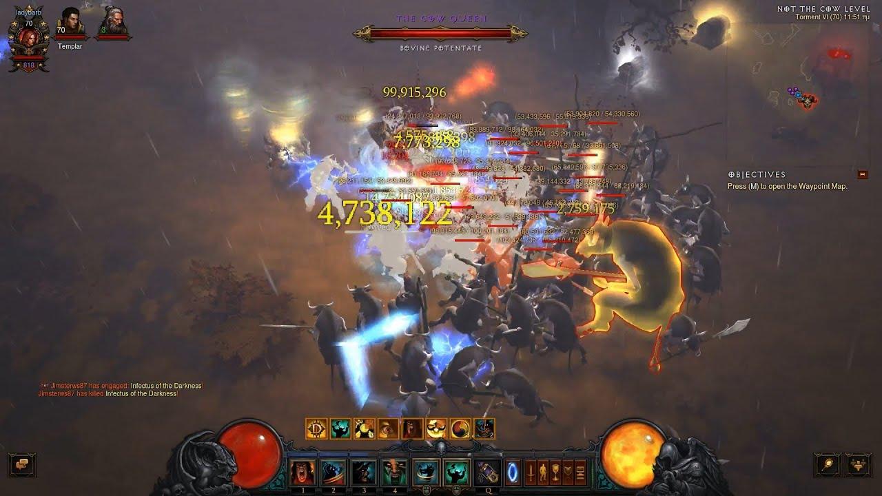 Diablo III Ros 2.2 NEW Anniversary Cow Level - YouTube