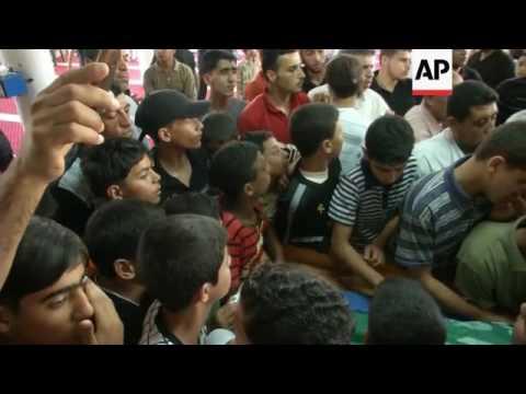 ISRAELI AIRSTRIKES KILL GAZA MILITANT, INJURE 17, FUNERAL